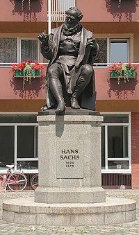 Hans Sachs memorial Nuremberg by Johann Konrad Krausser (Source: Wikimedia)