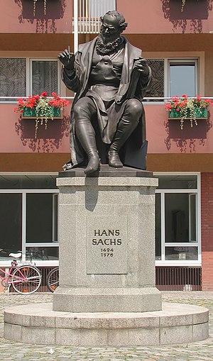 Hans Sachs - Hans Sachs memorial Nuremberg by Johann Konrad Krausser
