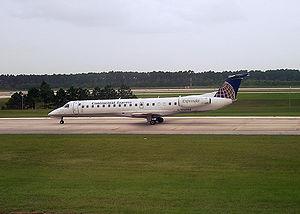 An ExpressJet Embraer Regional Jet 145 operati...