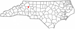 Location of Love Valley, North Carolina