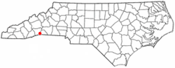 Location of Saluda, North Carolina