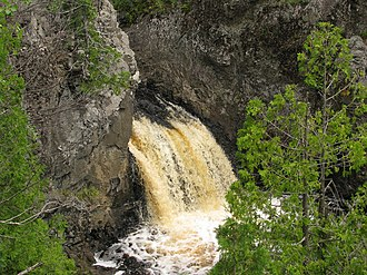 North Country Trail - The trail passes by Wren Falls in Iron County, Wisconsin