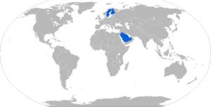 Patria NEMO - Map of NEMO operators in blue