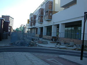 New England Quarter - The former route of New England Street in the process of being pedestrianised