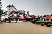 Outer view Narayana Institute of Cardiac Science, Bangalore. The group's flagship hospital.