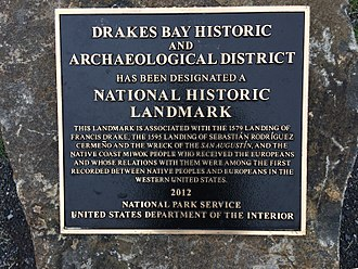 New Albion - National Historic Landmark commemorating and honoring Francis Drake,  Sebastian Rodriguez Cermeño, and Coast Miwok people at Point Reyes, California.