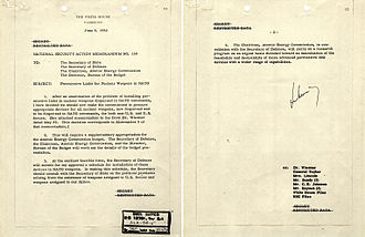 Permissive Action Link -  National Security Action Memorandum 160: introduction of PAL to all U.S. nuclear weapons under NATO command