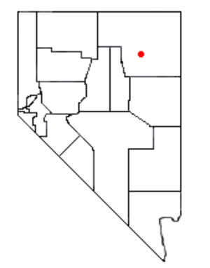Hidden Lakes (Nevada) - Location of Hidden Lakes within Nevada