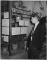 NYA-San Francisco, California-picture of young man standing in front of Italian-American Employment Agency looking... - NARA - 195860.tif