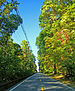 Looking north along NY 9D in a wooded area sou...