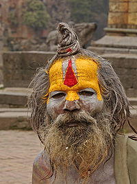 Sadhu Bat Pipe User