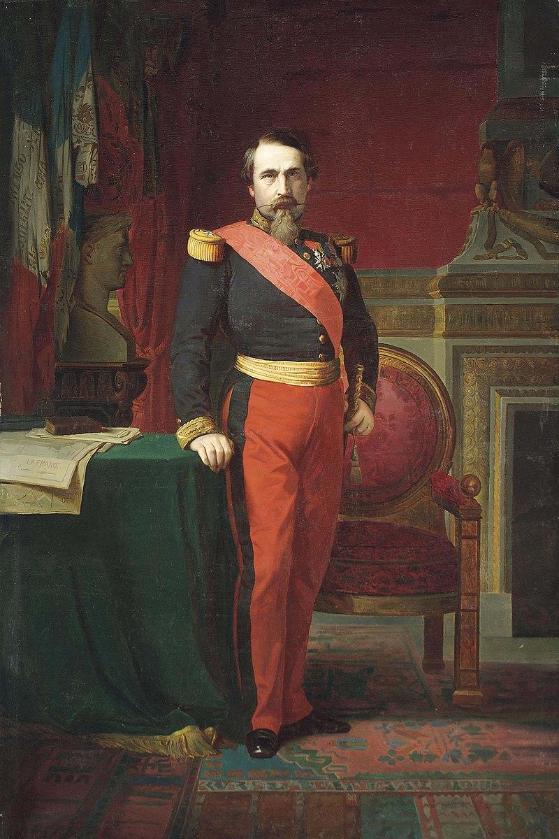 Наполеон III в форме генерал-майора в своем большом кабинете в Тюильри, 1862 г. (Ипполит Фландрин) .jpg