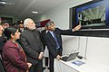 Narendra Modi visiting the National Trauma Centre, at the official handover and inaugural ceremony of the National Trauma Centre, in Kathmandu, Nepal. The Union Minister for External Affairs and Overseas Indian Affairs (1).jpg