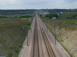 Track approaching Medway Viaducts. {{location ...