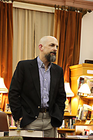 Neal Stephenson talking at the Boulder Book St...
