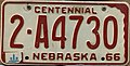 Nebraska license plate 1966-1968 from the private collection of Jim Smith.jpg