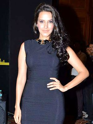 Neha Dhupia - Dhupia at a press conference at the 13th IIFA Awards
