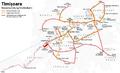 Netzentwicklungsplan der Straßenbahn Timișoara.png