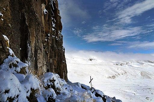 foto del nevado del mismi, donde nace el amazonas