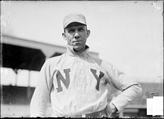 New York Giants first baseman Dan McGann, standing on the field at West Side Grounds.jpg