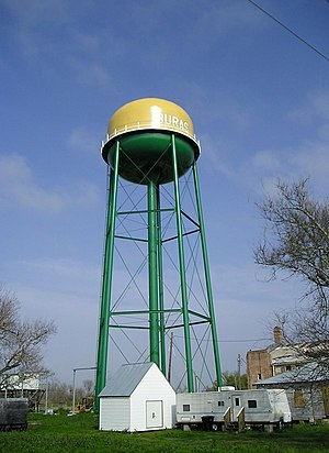 Buras-Triumph, Louisiana - Image: New buras watertower