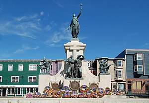 The National War Memorial in St. John's, Newfo...