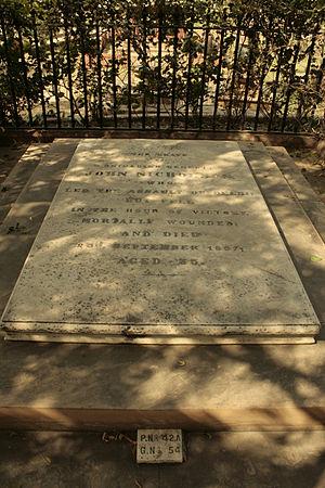 Nicholson Cemetery, New Delhi - Image: Nicholson Cemetery John Nicholson 02