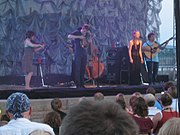 Apple on tour with Nickel Creek in 2007.
