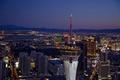 Night aerial view, Las Vegas, Nevada LCCN2010630632.tif
