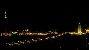 Taipa - Night view of the Old bridge