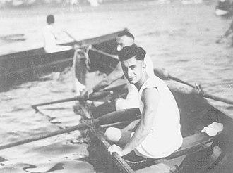 Nihat Bekdik - Nihat Bekdik in Istanbul Rowing Championship events, 3 August 1933.