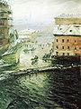 Nikolay Dubovskoy V navodneniye. Na Ekaterininskom kanale 1903.jpg