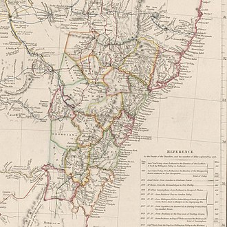 Nineteen Counties - Nineteen counties, New South Wales, Australia, 1832