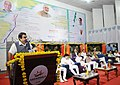 Nitin Gadkari addressing at the inaugural function of sea route to Baratang Island, foundation stone laying ceremony of extension of new dry dock at Port Blair, extension of wharf at Hope Town.jpg