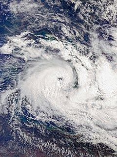A strong tropical cyclone which affected Far North Queensland and the Top End in March 2018.