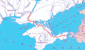 North Crimean Canal - map of the canal