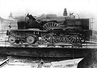 NBR 224 and 420 Classes - No. 224 following its recovery from the Firth of Tay in 1880