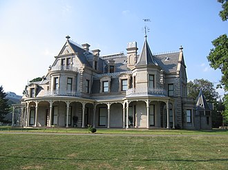 Lockwood–Mathews Mansion - South side of the mansion