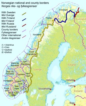 Norway–Sweden border - Image: Norway Borders