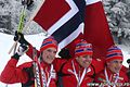 Norway won silver in men Relay (Ski-EOC2010).jpg