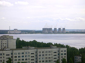 Photograph of the Novovoronezhskaya Nuclear Power Plant.