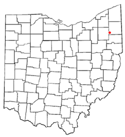 Location of Newton Falls, Ohio