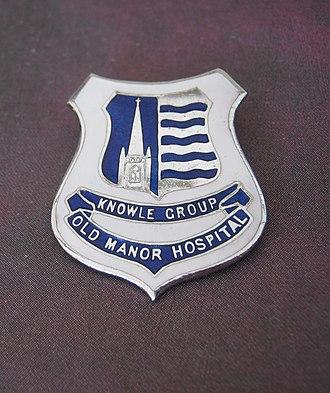 Old Manor Hospital, Salisbury - The hospital badge awarded to trained Old Manor Hospital nurses between approximately 1960 and 1974