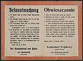 Obwieszczenie generala von Schenckendorff Komendanta Woskowego Poznania 1.jpg