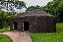 A typical dwelling of the indigenous people in Brazil, called Oca