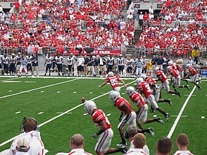 2007 Ohio State Buckeyes football team - The Buckeyes kick off.