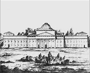 Laurynas Gucevičius - Central palace in Verkiai, drawn before its demolition
