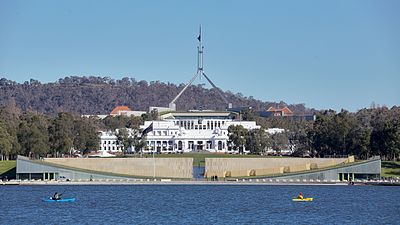 Old and new Parliament Houses; Canberra Australia.jpg