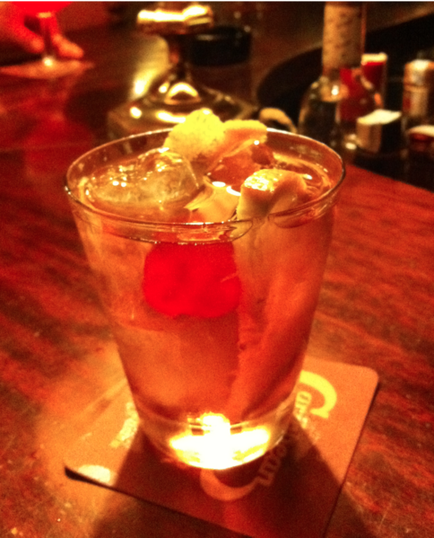 Brandy Old Fashioned With Sweet Vermouth