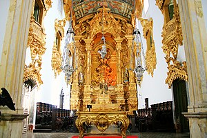 Olinda - Main altar of Saint Benedict Church.